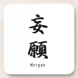 Morgan tradujo a símbolos japoneses del kanji posavasos