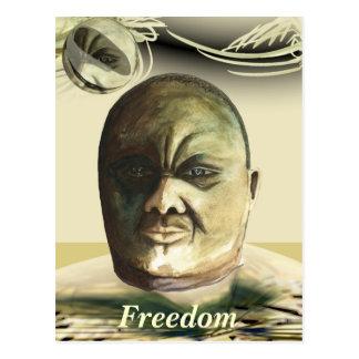 Morgan Tsvangirai freedom Postcard
