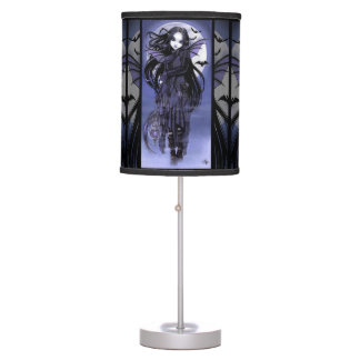 Morgan Vampire Moon Gothic Bat Fairy Table Lamp