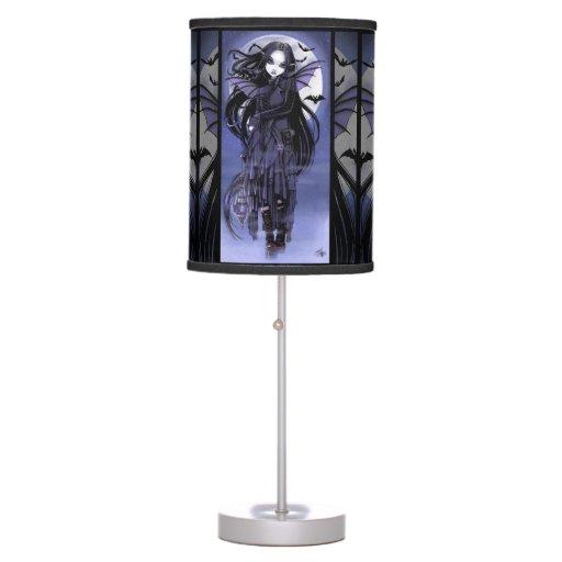 Morgan Vampire Moon Gothic Bat Fairy Table Lamp Zazzle