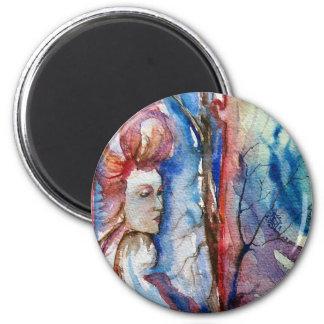 MORGANA / Magic and Mystery ,Pink Blue Fantasy Magnet