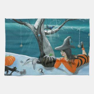 Morgana's Halloween Hand Towel