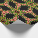Morgans Victorian Christmas Flower Wrapping Paper