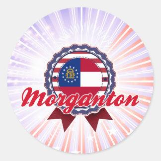 Morganton, GA Classic Round Sticker
