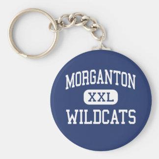 Morganton - Wildcats - High - Morganton Basic Round Button Keychain