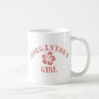 Morgantown Pink Girl Classic White Coffee Mug