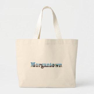 Morgantown Skyline Word Cutout Canvas Bags
