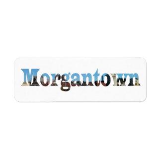 Morgantown Skyline Word Cutout Labels