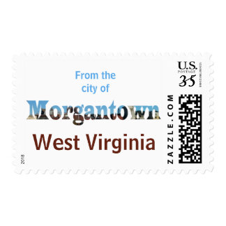 Morgantown Skyline Word Cutout Post Stamps