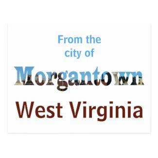 Morgantown Skyline Word Cutout Postcards
