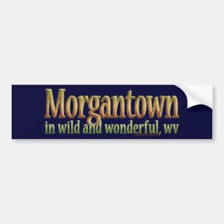 Morgantown, Virginia Occidental Pegatina Para Auto