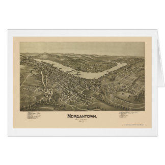 Morgantown, WV Panoramic Map - 1897 Card