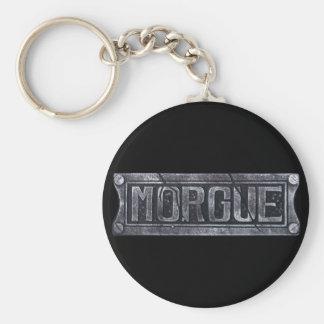Morgue Basic Round Button Keychain
