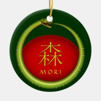 Mori Monogram Snake Ceramic Ornament