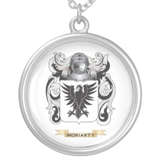 Moriarty Coat of Arms (Family Crest) Round Pendant Necklace