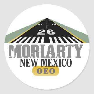 Moriarty New Mexico - Airport Runway Classic Round Sticker
