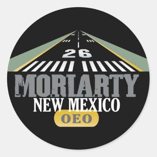 Moriarty New México - pista del aeropuerto Pegatina Redonda