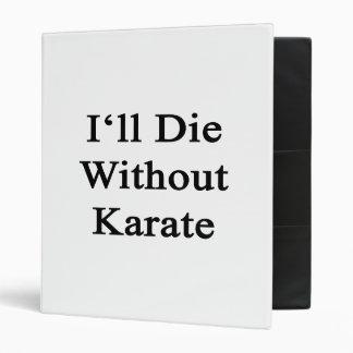 Moriré sin karate