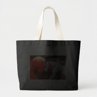 MORISCO IN FIERY SPACE TOTE BAGS