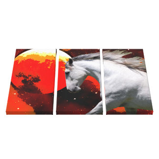 MORISCO IN FIERY SPACE Wrapped Canvas Print