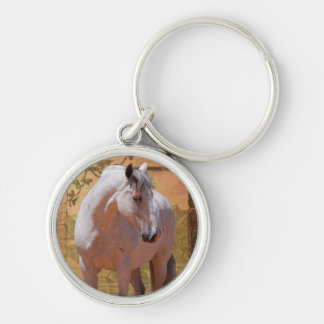 MORISCO IN THE WINDOW Silver-Colored ROUND KEYCHAIN