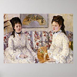 Morisot: Dos hermanas en un sofá Póster