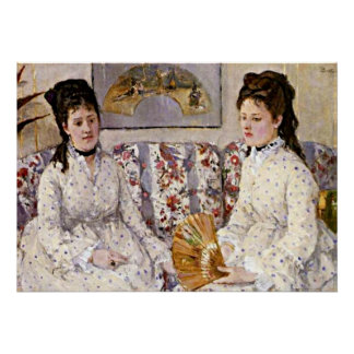 Morisot: Two Sisters on a Couch Poster
