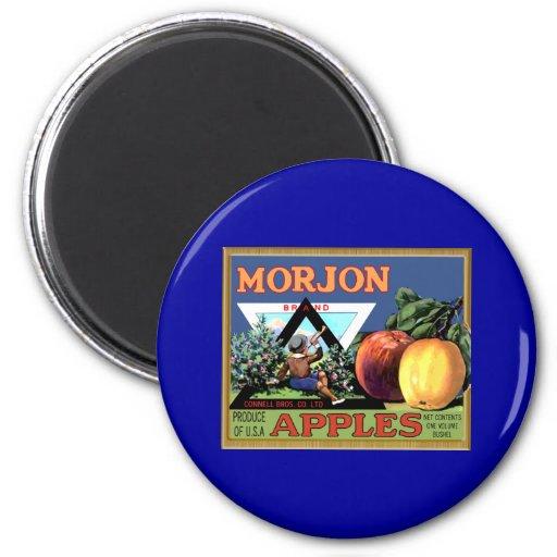 Morjon Apples 2 Inch Round Magnet
