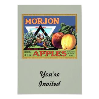 "Morjon Apples 5"" X 7"" Invitation Card"