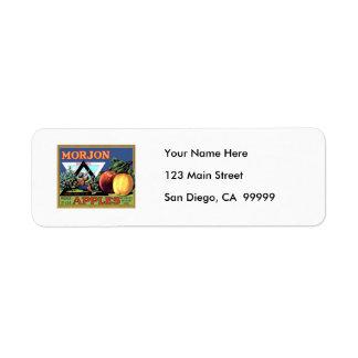 Morjon Apples Return Address Labels
