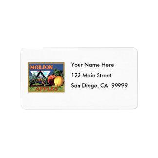 Morjon Apples Address Label