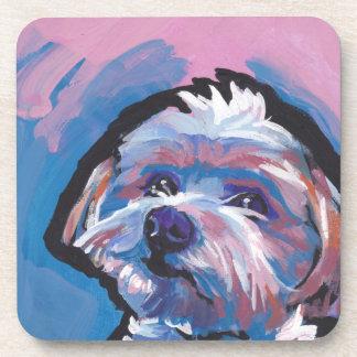 morkie designer breed pop dog art coaster