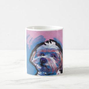 MORKIE Maltese Yorkie ** Int/'l Dog Postage Stamp Art ** Great Gift Idea **