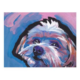 morkie designer breed pop dog art postcard