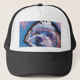 morkie designer breed pop dog art trucker hat