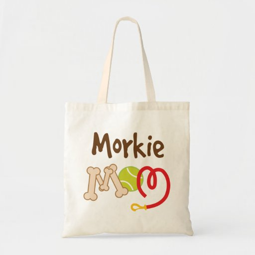 Morkie Dog Breed Mom Gift Tote Bags