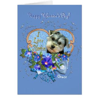 Morkie Love Valentine Greeting Card