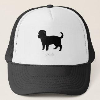 Morkie silhouette trucker hat