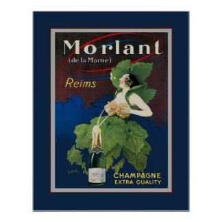 Morlant Champagne Advertisment Poster