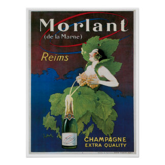 Morlant Champagne Vintage Drink Ad Art Posters