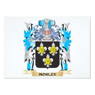 Morley Coat of Arms - Family Crest 5x7 Paper Invitation Card