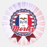 Morley, IA Etiquetas Redondas