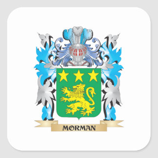 Morman Coat of Arms - Family Crest Square Sticker