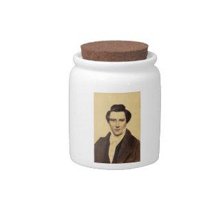Morman Joseph Smith Jr. Portrait C.W. Carson 1879 Candy Dishes
