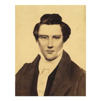 Morman Joseph Smith Jr. Portrait C.W. Carson 1879 Letterhead