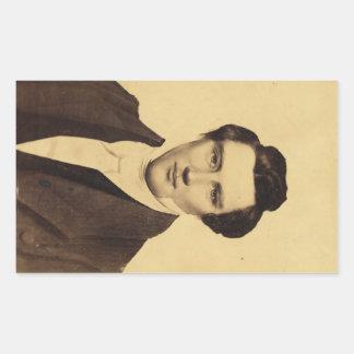 Morman Joseph Smith Jr. Portrait C.W. Carson 1879 Rectangular Sticker