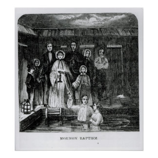 Mormon Baptism Poster
