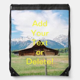 Mormon Barn Drawstring Bag