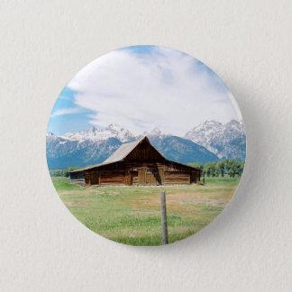 Mormon Barn Pinback Button
