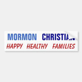Mormon Christian Happy Healthy Families Bumper Stickers